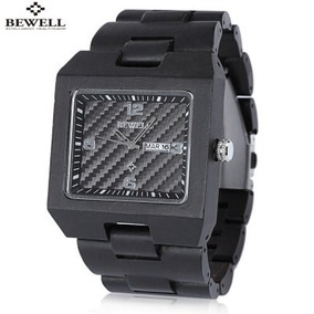 Reloj Bewell Zs W016b Caballero Cuarzo Madera Ebony Excelent