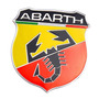 Insignia Fiat Abarth Aluminio Adhesiva!