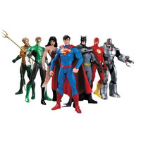 Liga Da Justiça - Box Set - Dc Collectibles 7 Personagens