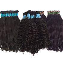 Cabelos Humano Natural 55cm 50g Mega Hair Liso E Cacheado