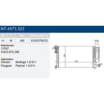 Radiador Berlingo Partner 1.8 01/... Com/sem Ar Mecanico