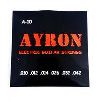 Encordoamento P/ Guitarra Cordas 0.10 - Ayron (nig,sg,solez)