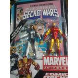 Marvel Universe Iron Man Mujer Araña Pack Hasbro C/ Comic