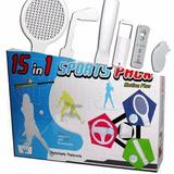 Set Deportes Wii 15 En 1 Autos Tenis Golf Beisbol Oferta