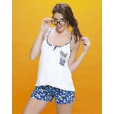 Pijama Sublimado Bianca Secreta Modal Estampado