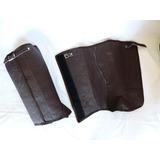 Perneira Em Couro Legítimo Com Velcro E Fivela Resistente