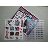 Monster High - Kit Tatuagem E Adesivos De Unhas