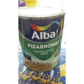 Pintura Para Pizarron Alba Verde - X 1lt + Lija