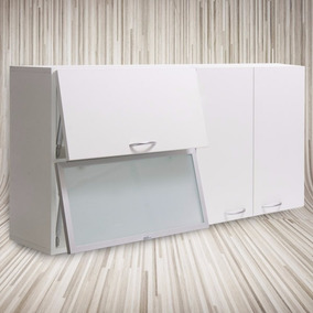 Alacena 1,20 X 60 X 30 -mueble-cocina-aluminio Blanca