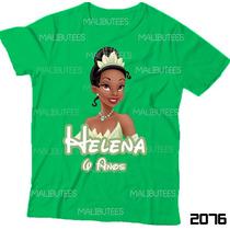 Camiseta Tiana Infantil A Princesa E O Sapo Personalizada