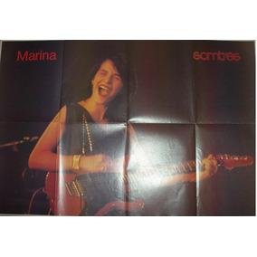 Marina Lima Poster 85,0 Cm X 58,0 Cm Comemoração Vendagem