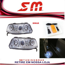 Farol Angel Eyes Gol Saveiro Parati G3 1999/05 + Cortesia Vw