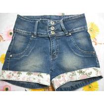 Shorts Jeans Curto Tam P Barra Florida