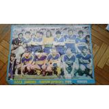 Reliquia Poster Boca Campeón Supercopa Coleccionistas 89