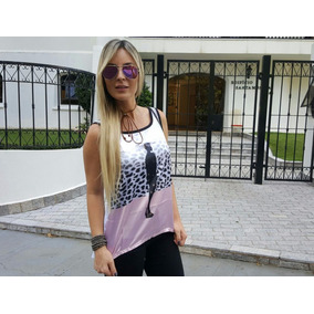 Regata Feminina Cetim Estampa Blusinha Promocao Fashion