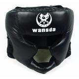 Capacete Protetor De Cabeça Lutas Boxe Muay Thai Com Velcro