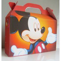 Cajita Bolsita Mickey Mouse Souvenirs Infantiles Pack X40