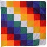 Bandera Wiphala De 75 Cm. X 75 Cm. - Intikilla Tienda