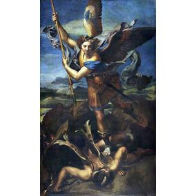 Lienzo Tela San Miguel Arcángel Y Satanás Arte Sacro Rafael