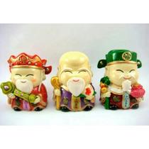 Amuleto De Feng Shui Tres Dioses Chinos De La Prosperidad