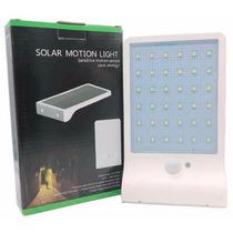 Lámpara Solar 36 Leds, Sensor De Mov + Sensor De Luz