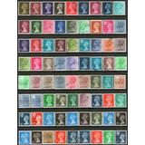 Reino Unido Serie X 86 Sellos Usados Reina Años 1967-95