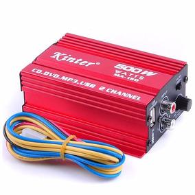 Mini Amplificador Kinter Ma-150 Usb 12v 5a