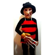 Disfraz Set De Freddy Krueger Niños Pechera Careta Gorro
