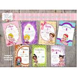 Tarjeta Invitación Imprimible Editable Baby Princesas