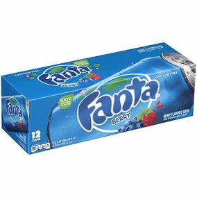 Kit 12 Refrigerante Fanta Berry - Sabor Mirtilo 355ml - Eua