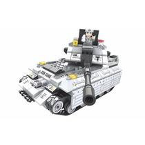 Bloco Montar Tanque De Guerra Esteira Policia 299 Peças
