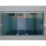 Janela Blindex Vidro Incolor 1,00 X 1,00 + Aluminio Branco