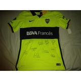 Camiseta Boca Jrs Original Autografiada Firmada Por Jugadore
