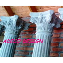 Columna Toscana Estriada Corintia 2.10 Cemento Fabrica