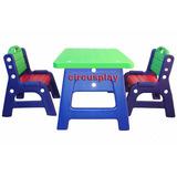 Mesa + 2 Sillas Plastico Plaza Infantil Resistente Niños