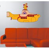 Adesivo Parede Música The Beatles Yellow Submarine Submarino