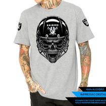 Camisa Camiseta Caveira Raiders Nfl