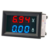 1 Amperímetro Voltímetro Digital Dc 100v 10a Medidor