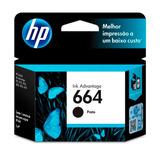 Cartucho De Tinta Hp Ink Advantage 664 Preto F6v29ab 280387