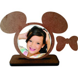 50 Porta Retrato Minnie Infantil Mdf Cru Enfeite De Mesa
