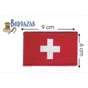 Escudo Parche Bordado Banderas De Suiza
