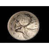 Moneda 25 Centavos.canada, 1982.