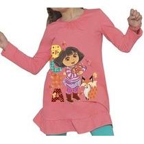 Minivestido Bluson Para Niña Dora Explora 4 6 Y 8 Años