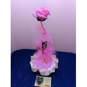 Centro De Mesa 15 Años Boda Rosa De Porcelana Fria 25cm