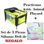 Practicuna Kiddy Animal Playard + Juego De Sábanas De Regalo