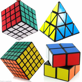 Kit Cubo Mágico 2x2x2 4x4x4 5x5x5 Pyraminx Shengshou Preto