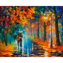 Autumn Hug - Pintura Al Óleo Por Leonid Afremov