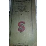 Maquina Singer Manual De Instrucciones Original