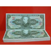 Cédula C071 Fe Cinco Cruzeiros Dinheiro Antigo