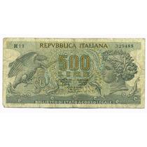 Italia Billete De 500 Liras Año 1966 Pick #93 Buen Estado+